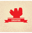 singapore detailed silhouette trendy vector image vector image