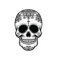 skull in the style of santa marta vector image