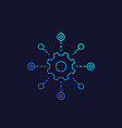 software testing automation system line icon