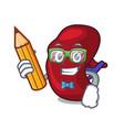student spleen character cartoon style vector image vector image