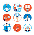 successful business people partnership flat icon vector image