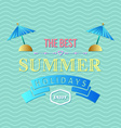 Summer holidays typography vector image