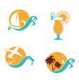 Summertime emblems set vector image vector image