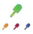 Toilet brush doodle Colorfull applique icons set vector image