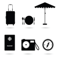 travel icon in black vector image