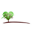tree symbol with heart vector image vector image