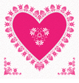 Valentines Day Card with flower hearts vector image vector image