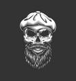 vintage irish skull in gatsby hat vector image vector image