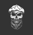 vintage irish skull in gatshat vector image vector image