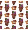 wafer cookies waffle cakes pastry cookie seamless vector image