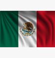 waving mexico vector image vector image