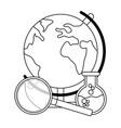 world map cartoon vector image vector image