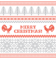 Christmas and New Year knitted background vector image