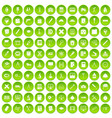 100 compass icons set green circle vector image vector image