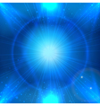 abstarct blue space background with light star vector image vector image