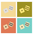 assembly flat icons poker dice lucky vector image