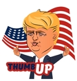August 04 2016 Donald Trump thumb up character vector image