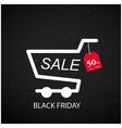 black friday sale 50 cart background image vector image vector image