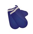Blue kitchen mittens