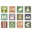 Building equipment icons set vector image vector image
