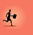 businesswoman running forward vector image