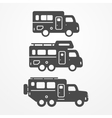 Camping truck set vector image