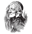 cardinal john henry newman vintage vector image vector image