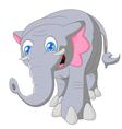 Cartoon cute elephant on white background vector image vector image