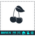 cherry icon flat vector image