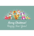 Christmas Gifts Background Horizontal Header vector image vector image