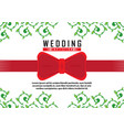 classic wedding invitation vector image vector image