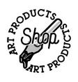 color vintage art products shop emblem vector image