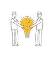 cooperation symbol business idea partnership vector image