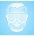 Creative Artwork of symbol skier or snowboarder vector image vector image