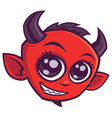 cute cartoon devil vector image vector image