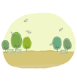 Cute park landscape vector image