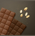 different chocolate bars vector image