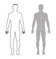 Fashion man full length outlined template vector image vector image