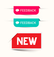 Feedback and New Paper Labels - Stickers Set - Web vector image