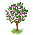 Flower tree with glossy leaves