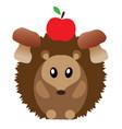 funny hedgehog vector image vector image