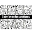 geometric seamless patterns in the memphis style vector image vector image