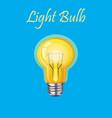 glowing yellow light bulb vector image vector image