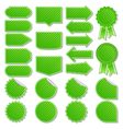 green price tags vector image