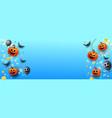 happy halloween trick or treat website banner vector image
