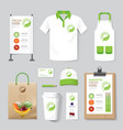 health beauty shop set flyer menu package t-shirt vector image vector image