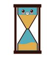 hourglass time symbol cute kawaii cartoon vector image