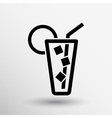 icon of glass with a cocktail vector image vector image