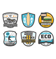 icons for leisure and sport hobby vector image