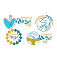 international nurse day template set vector image